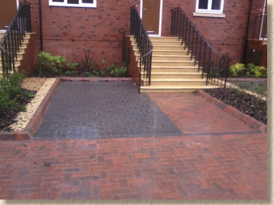 permeable parking bay